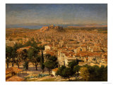 An Extensive View of Athens with the Acropolis, Greek School Giclée-tryk