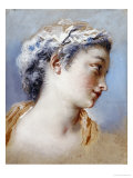 A Portrait Study of a Young Girl in Profile to the Right Giclee Print by Jacques Andre Portail