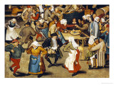 The Indoor Wedding Dance Premium Giclee Print by Pieter Bruegel the Elder