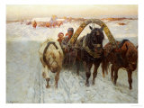 The Sleigh Giclee Print by Franz Roubard