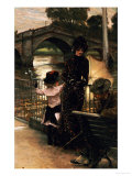 The Artist, Mrs Kathleen Newton and Her Niece Lillian Hervey by the Thames at Richmond, 1878-79 Prints by James Tissot