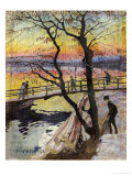 The Footbridge, Lidingobron Giclee Print by Carl Wilhelm Wilhelmson