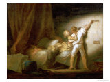 Modello Version of le Verrou Posters by Jean-Honoré Fragonard