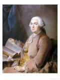 Portrait of a Gentleman Seated at a Table with a Book Prints by Maurice-quentin De La Tour