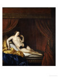 A Courtesan Reclining on a Bed Prints by Charles-emmanuel Biset