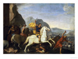 Saint James at the Battle of Clavijo Giclee Print by Aniello Falcone