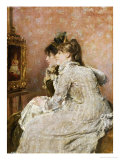 Admiring the Portrait, 1879 Prints by Alfred Emile Léopold Stevens