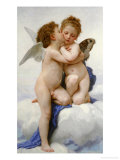 The First Kiss Premium Giclee Print by William Adolphe Bouguereau