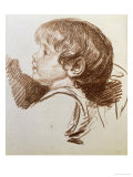 Head Of A Boy In Profile To The Left Lmina gicle por Jean-Baptiste Greuze