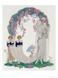 The Bride, 1920 Prints by Georges Barbier