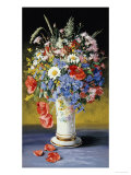 Dandelions, Poppies and Other Wild Flowers in a Beaker Vase, 19th Century Giclee Print by Petra Koch