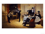 The Dinner Party Prints by Ferencz Paczka