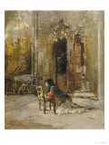 A Woman at Prayer in a Church Prints by Mose Bianchi