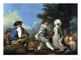 The Village Dance, 1774 Giclee Print by Jean-hyghes Taraval