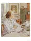 My Eldest Daughter Prints by Carl Larsson