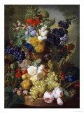 A Still Life of Flowers and Fruit Giclée-tryk af Jan van Os