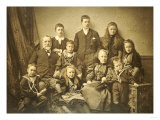 A Family Group Portrait, circa 1895-97 Poster