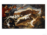 A Boar Hunt Prints by Frans Snyders