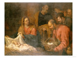 The Adoration of the Shepherds Premium Giclee Print by Giovanni Andrea De Ferrari