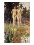 Two Friends Posters by Anders Leonard Zorn