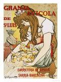 Granja Avicola de Sn. Luis, 1896 Giclee Print by Alejandro De Riquer