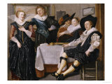 A Merry Company in an Interior Giclee Print by Dirck Hals