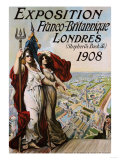 Exposition Franco-Britannique, Londres (Shepherd's Bush) 1908 Posters
