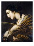 Saint Catherine of Alexandria Gicle-tryk af Il Volterrano