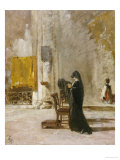 A Lady Praying in Church Posters by Mose Bianchi