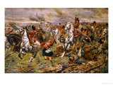 Gordons and Greys to the Front, Incident at Waterloo Prints by Stanley Berkeley