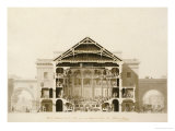 Cross-Section of the Front Section of the Theatre, from Designs for the Comedie Italienne Posters by Francois-joseph Belanger