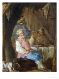 An Old Man Smoking Giclee Print by Louis Jean-jacques Durameau