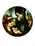 The Holy Family with the Infant Saint John the Baptist and an Angel in a Landscape Prints