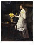 Arranging Daffodils Giclee Print by Carl Thomsen