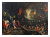 Orpheus Playing to Pluto and Persephone in the Underworld Poster by Jan Brueghel the Elder