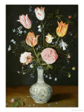 Tulips, Roses, Forget-Me-Nots and Other Flowers in a Late Ming Blue and White Vase Prints by Jan Brueghel the Elder
