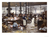 The Fish Hall at the Central Market, 1881 Giclee Print by Victor Gilbert
