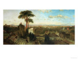Rome, Sunset from the Convent of San Onofrio Poster by David Roberts