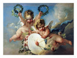 La Cible d'Amour (Love Target) Giclee Print by Francois Boucher