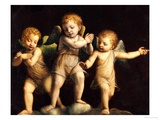 Three Cherubs Giclee Print by Bernandino Luini