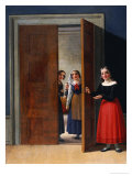 Women by a Doorway Giclee Print by Christian Wilhelm Eckersberg