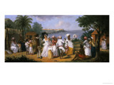 Natives Dancing in the Island of Dominica, Fort Young Beyond Giclee Print by Augustin Brunais