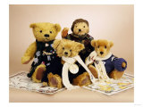 "Soldier Teddy Bears ""Albert"", ""Jack"", ""Harrison"" and ""Thomas"" Giclee Print"