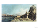 The Entrance to the Grand Canal, Venice, Looking East, with the Church of Santa Maria Della Salute Posters by  Canaletto