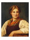 A Bavarian Peasant Girl Giclée-Druck von Franz Von Defregger