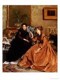 La Lettre de Consolation, 1867 Prints by Gustave Leonhard De Jonghe