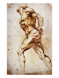 Anatomical Study: a Nude Striding to the Right His Hands Behind His Back Impressão giclée premium por Peter Paul Rubens