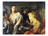 Hercules and Omphale Giclee Print by Antonio Zanchi
