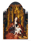 The Virgin and Child Enthroned Poster von Joos Van Cleve