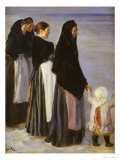 The Departure of the Fishing Fleet Giclee Print by Peder Severin Kröyer